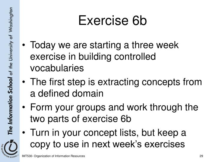 Exercise 6b