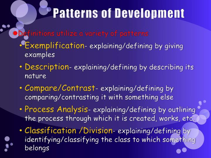 Patterns of Development
