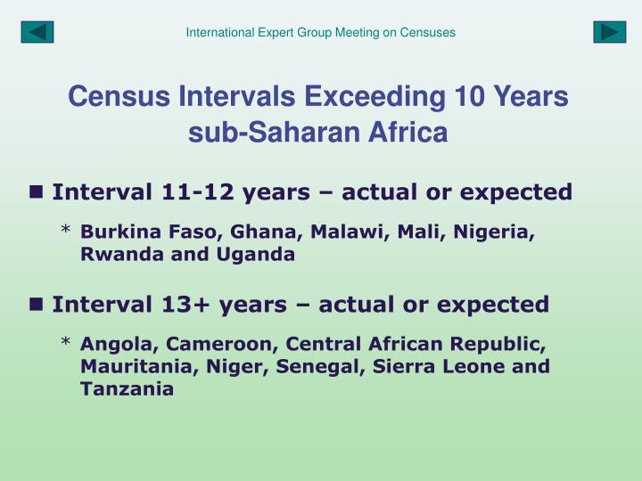 International Expert Group Meeting on Censuses
