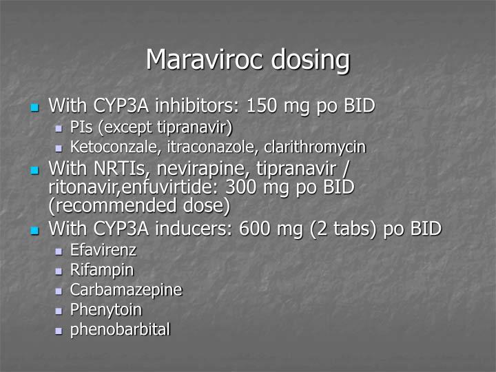 Maraviroc dosing