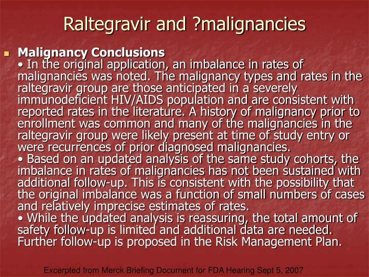 Raltegravir and ?malignancies