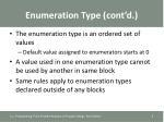 enumeration type cont d1