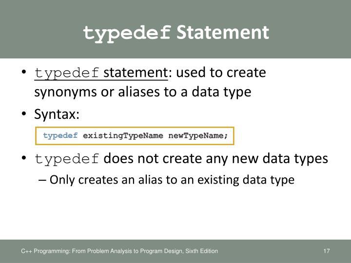 typedef