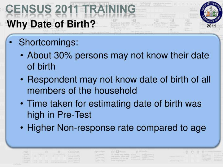 Why Date of Birth?