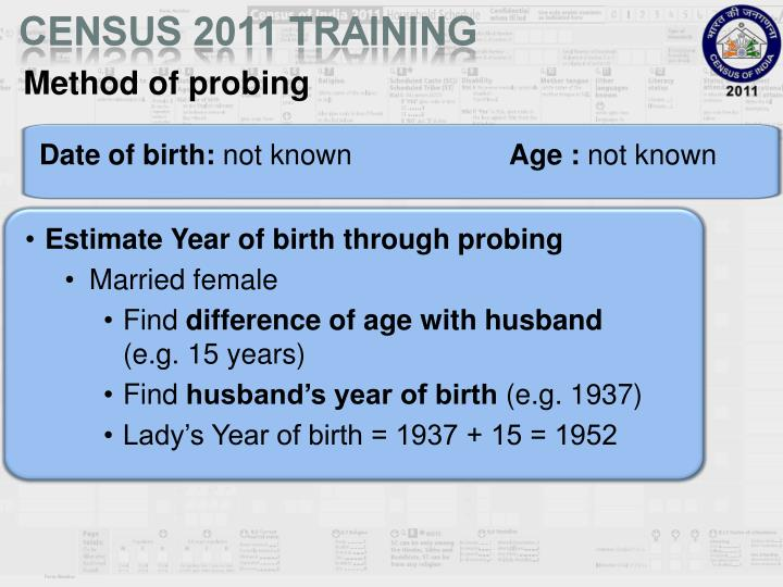Method of probing