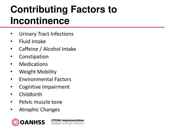 Contributing Factors to Incontinence
