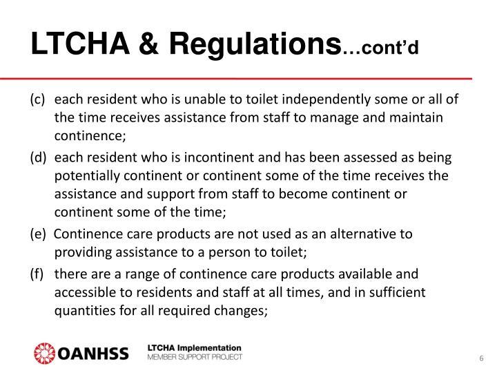 LTCHA & Regulations