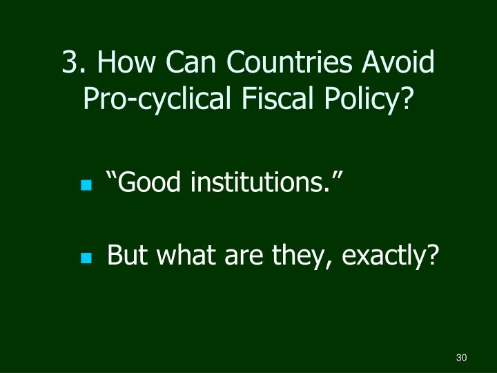 3. How Can Countries Avoid