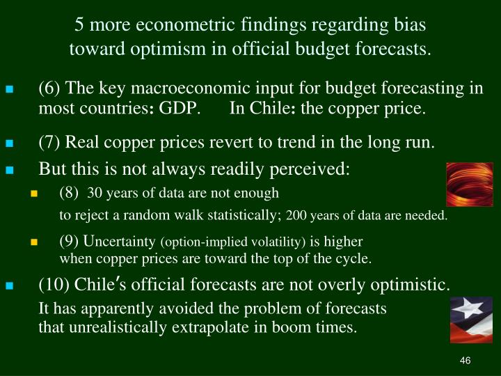 5 more econometric findings regarding bias
