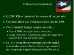 chilean fiscal institutions