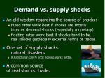 demand vs supply shocks