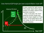 does nominal gdp target give best output inflation trade off