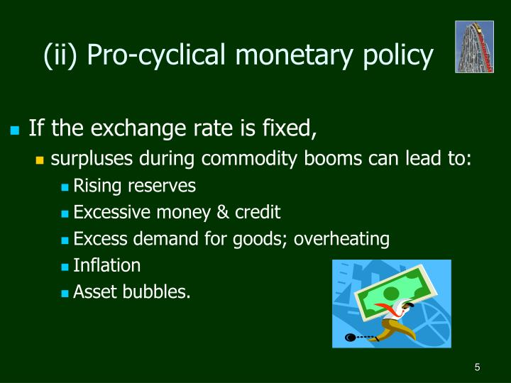 (ii) Pro-cyclical monetary policy