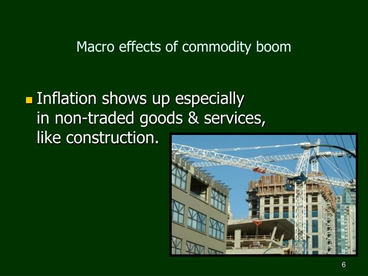 Macro effects of commodity boom