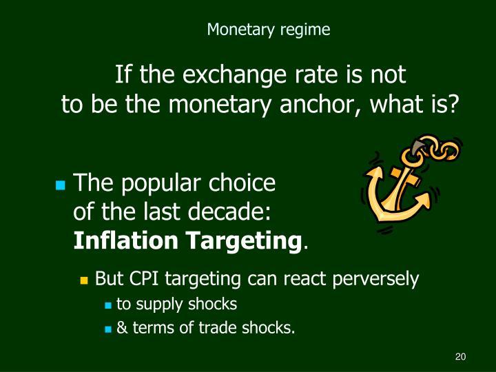 Monetary regime