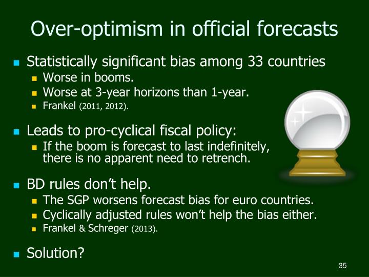 Over-optimism in official forecasts