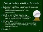 over optimism in official forecasts