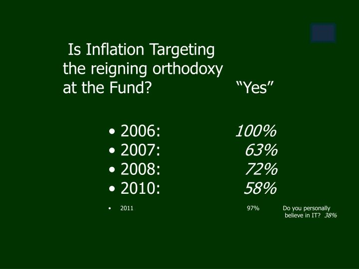 Is Inflation Targeting