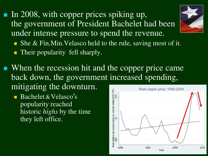 In 2008, with copper prices spiking up,