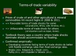 terms of trade variability