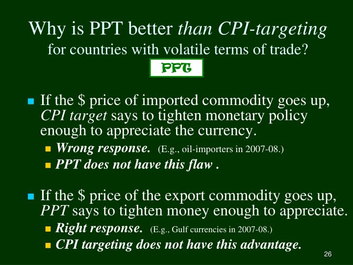 Why is PPT better