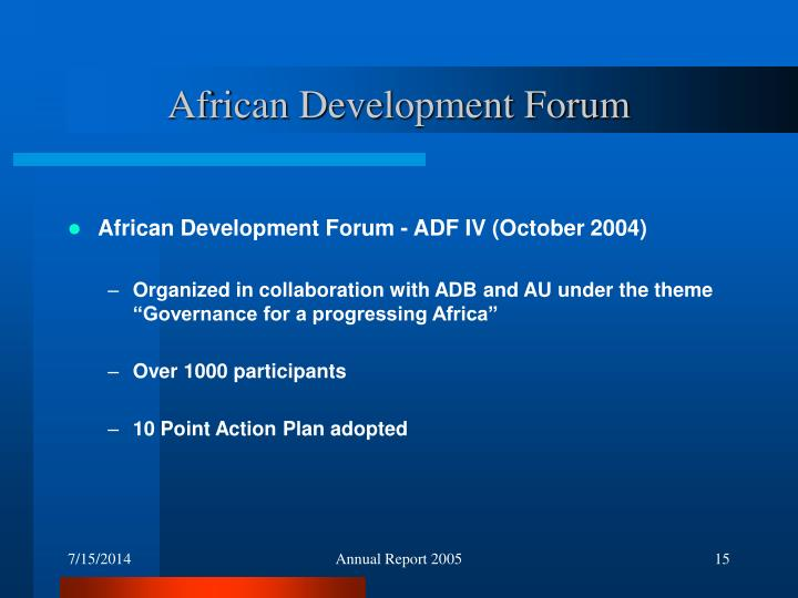 African Development Forum