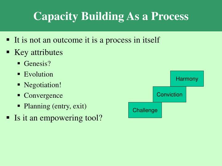 Capacity Building As a Process