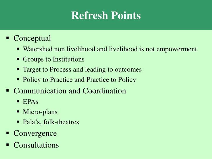 Refresh Points