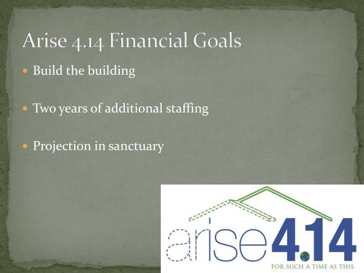Arise 4.14 Financial Goals
