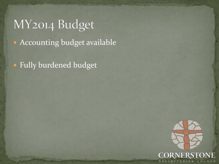 MY2014 Budget