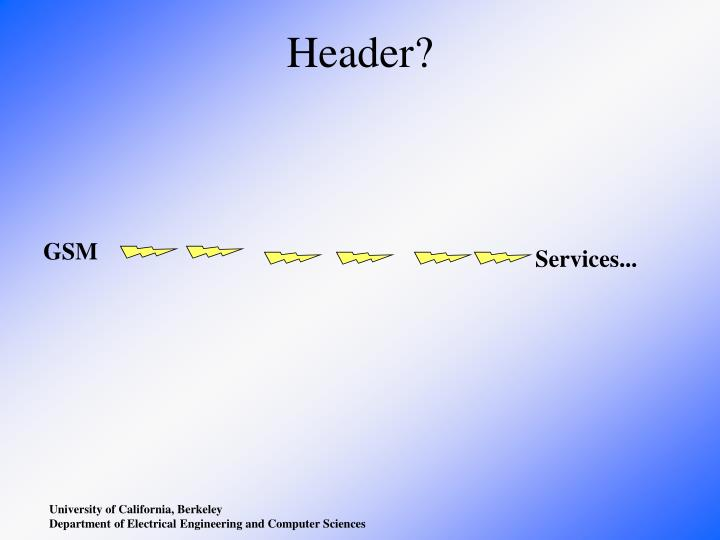 Header?