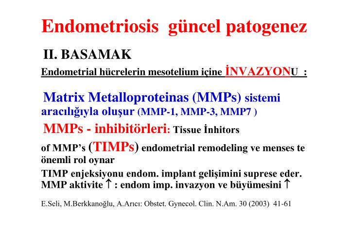 Endometriosis  güncel patogenez