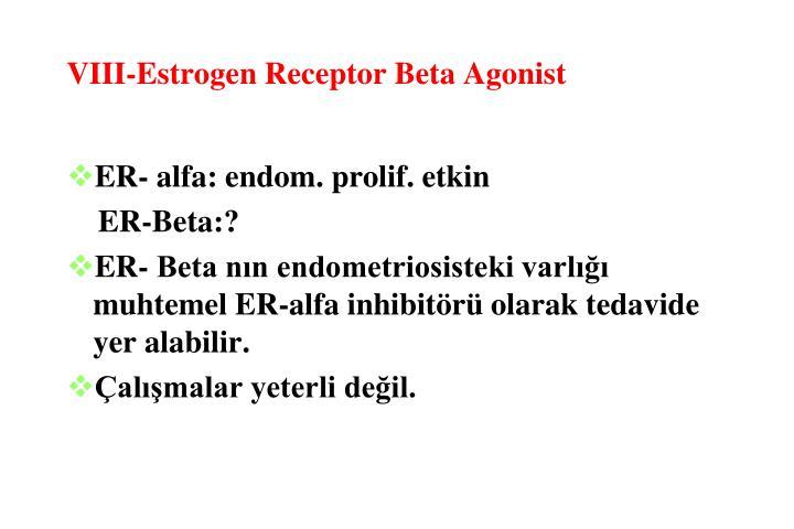 VIII-Estrogen Receptor Beta Agonist