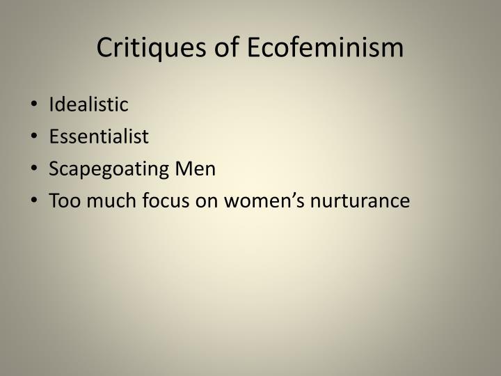 Critiques of Ecofeminism