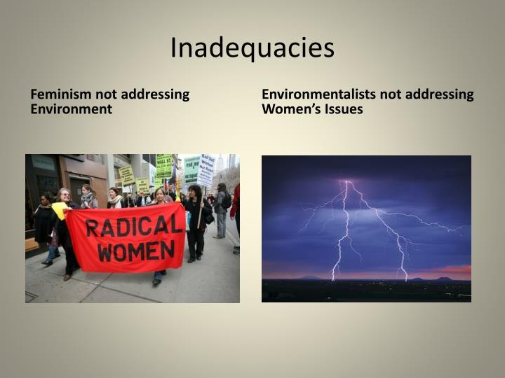 Inadequacies