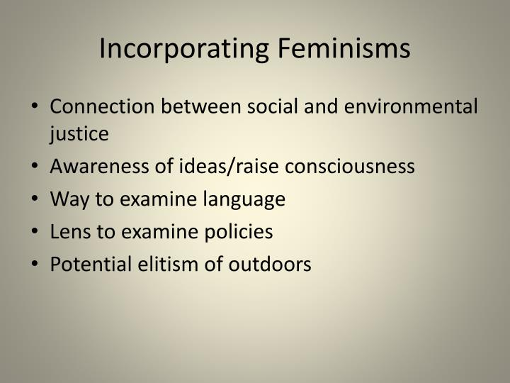 Incorporating Feminisms