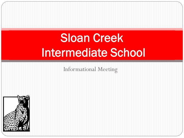 Sloan creek intermediate school