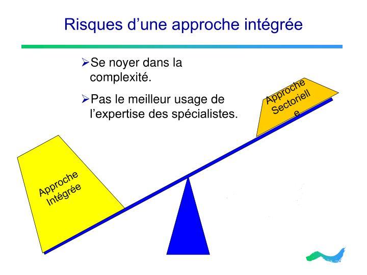 Risques d'une approche intégrée