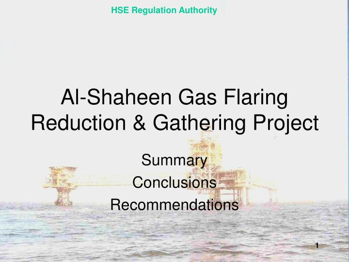 Al shaheen gas flaring reduction gathering project