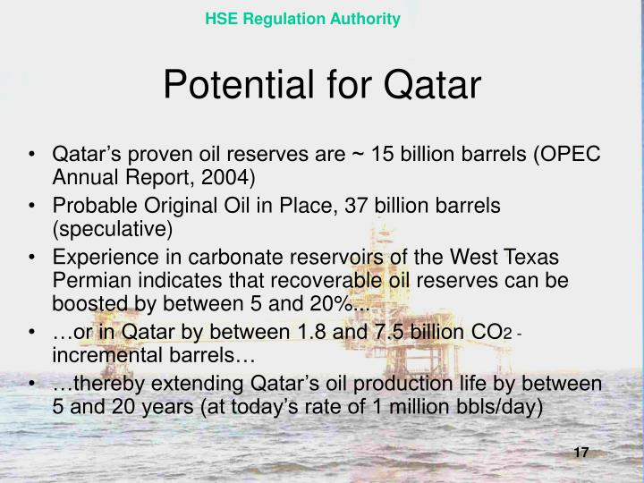 Potential for Qatar