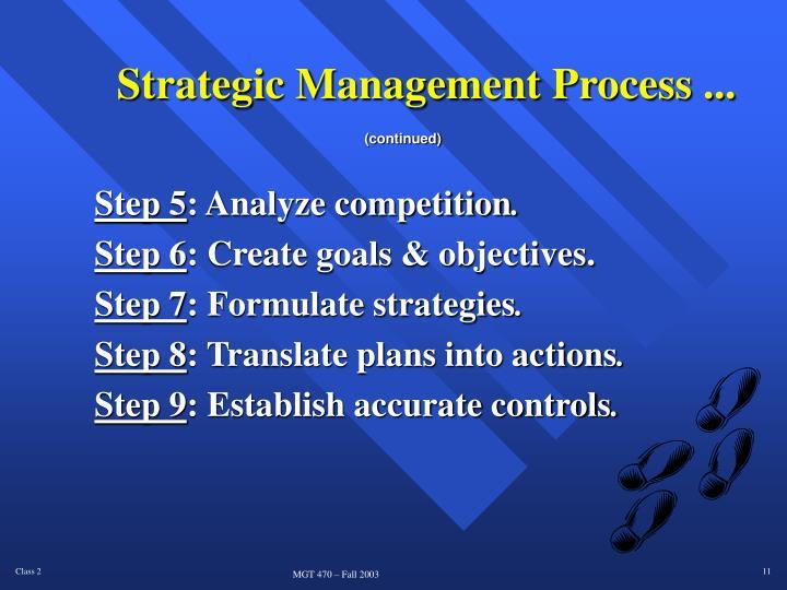 Strategic Management Process ...