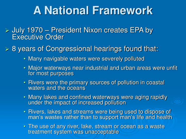 A National Framework