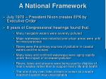 a national framework