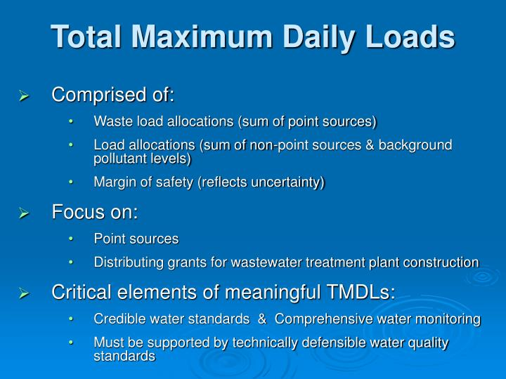 Total Maximum Daily Loads