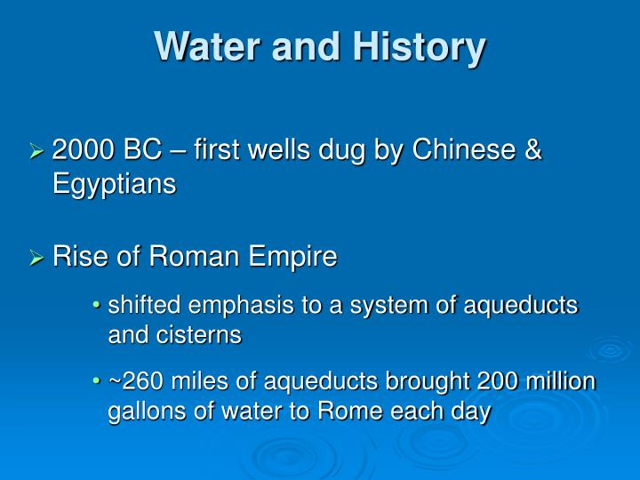 Water and History
