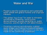 water and war