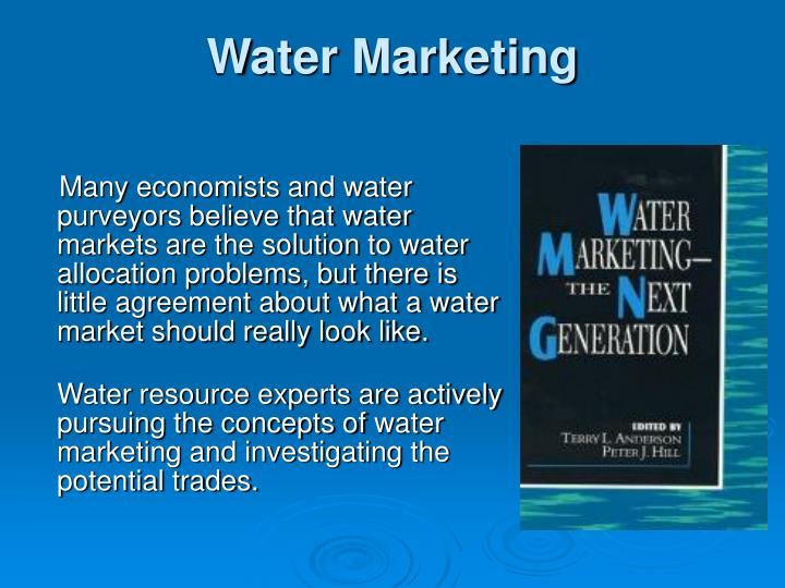Water Marketing