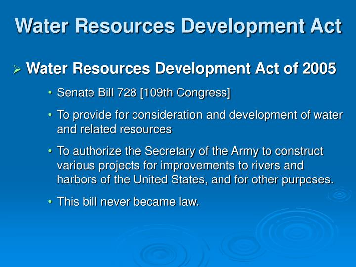 Water Resources Development Act