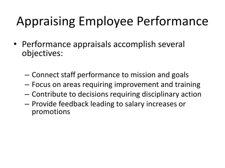 Appraising Employee Performance