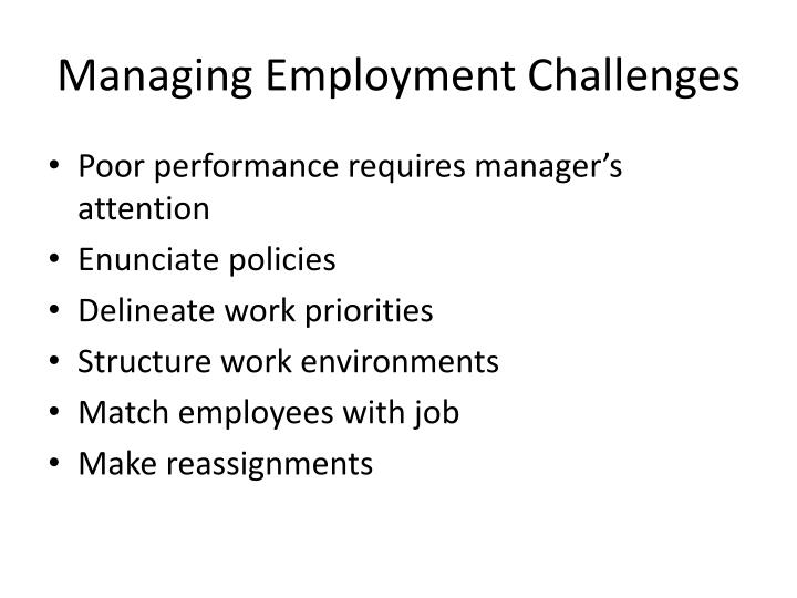 Managing Employment Challenges